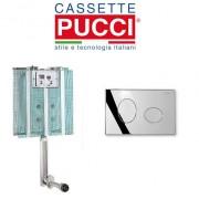 Pucci Cassetta Di Scarico Da Incasso Modello Pucci Eco Completa Di Placca Eco Ellisse Cromata