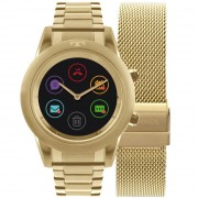 Relógio Smartwatch Technos Connect Duo Dourado Feminino P01AC/4P