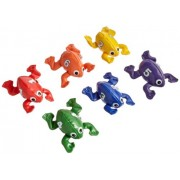 Count N Bags Bean Bag Frogs Numbered 1 Through 6 - Set of 6 - Assorted Colors