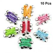 SUPVOX Rattle Bracelet Toys Dance Decorations Performance Props 10 Pcs (Mixed Color)