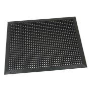 Černá gumová vstupní venkovní čistící rohož s obvodovou hranou Octomat Mini - délka 70 cm, šířka 90 cm a výška 1,25 cm