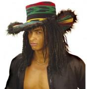 Merkloos Pluche rasta hoed voor volwassenen