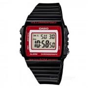 Reloj de los hombres de CASIO W-215H-1A2VDF - negro + rojo (sin la caja)