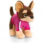 Catel de plus Chihuahua cu ochi stralucitori Keel Toys, 16 cm, 3 ani+