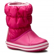 Cizme de zăpadă CROCS - Winter Puff Boot Kids 14613 Candy Pink