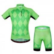 WOSAWE BC496-2xl que completa un ciclo el top + pantalones cortos del jersey - verde de hierba (xxl)