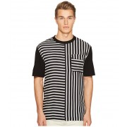 McQ Striped River Tee BlackWhite
