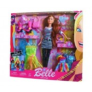 Furnishing Factory Belle doll Fashion Stylish Girl Doll With Trendy Dresses And Cool Accessories Girls.(Multicolor) return gift, return gifts for above 3 years, birthday gift for girls