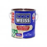 Vopsea pe baza de apa pentru lemn si metal INNENWEISS cu uscare expres, interior / exterior GRI 0.6 L