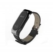 Mijobs Correa De Cuero Para Xiaomi Mi - Banda 2 Correas De Muñeca La Pulsera Magnética Sin Tornillos Miband2 Smart Band Reemplazar Accesorios, Host No Incluidos (negro)