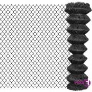 vidaXL Žičana ograda 15 x 1,5 m čelična siva