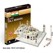 Cubic Fun 39-Pieces 3D PUZZLE TAJ MAHAL-WORLDS GREAT ARCHITECTURE