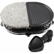 Gratar electric cu piatra si placa grill cu mini tigai si spatule suprafata de gatire ovala 1200 W Princess