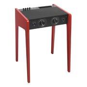 La Boîte Concept Enceinte Bluetooth LD 120 / Bureau - Pour ordi portable, iPod, iPhone - L 57 cm - La Boîte Concept rouge en bois