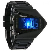 LED Red Light Stainless Steel Digital Bracelet Watch