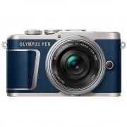 Sistemska kamera Olympus E-PL9 Pancake Zoom Kit 16.1 MPix Plava boja, Srebrna Zaslon osjetljiv na dodir