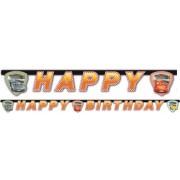 Verdák Happy birthday felirat