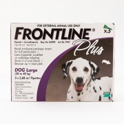 Frontline Plus Large Dogs 45-88lbs(20-40kg), 3 Pack