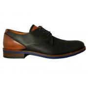 van Lier Zwarte Van Lier Veterschoenen - Zwart - Size: 45