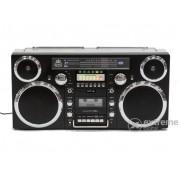 Radio casetofon portabil cu CD GPO Brooklyn /Ghetto Blaster/ Bluetooth/DAB, negru