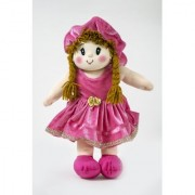 Baby Doll Girl Dolly Velvet Pink Color by Lovely Toys