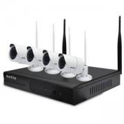 Комплект за видеонаблюдение NETIS SEK204, включващ 4бр. IP безжични камери SEC111 + 1бр. NVR SEV204, SEK204