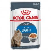 12x85g Ultra Light în gelatină Royal Canin Hrană umedă pisici