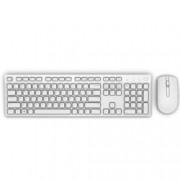 Комплект клавиатура и мишка Dell KM636, безжични, оптична мишка , бели