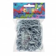 Rainbow Loom elastice metal pentru copii 20303 argintiu