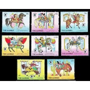 Disney Gambia World Stamp Expo Set of Eight Stamps