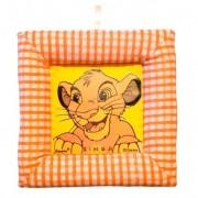 Tablou textil pentru perete Simba Disney Lion King, carouri portocaliu