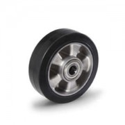 Gumi - Aluminium raklapemelő béka görgő átmérő: 250mm válaszható tengely átmérő: 17, 20, 25mm alumínium felni és gumi futófelület