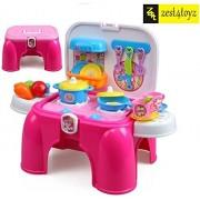 Zest 4 Toyz Portable Kitchen Pretend Play Battery Operated Toy Set