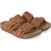 Clarks Rosilla Tilton Tan Leather Slippers