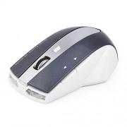 Tihebeyan Ratón inalámbrico Recargable, ratón para Juegos con ratón óptico inalámbrico Recargable de 2,4 GHz con Base de Carga de 3 Puertos USB hub(Blanco + Gris)