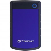 TS2TSJ25H3B - Transcend 2TB StoreJet 25H3 USB3.0, rubber casing, military-grade shock resistance with 3-stage shock protection, 3yrs, blue, Quick Reconnect Button