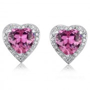 Cercei Borealy Argint 925 Sapphire Pink Passion for Love