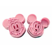 Disney Mickey Mouse & Minnie Mouse cookie cutter