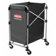 Carucior X-Cart pliant pentru rufe 150 L gri RUBBERMAID