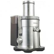 Storcator de fructe si legume Kenwood JE850 Excel, 1500W, Recipient suc 1.5 l, Recipient pulpa 3 l, Metalic/Aluminiu
