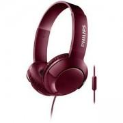 Слушалки с микрофон Philips, 3.5 mm, Червени, SHL3075RD