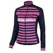 femeiesc cyklodresy Rogelli Ispir cu jemmným prin ardere şi lung maneca, albastru și roz 010.154.