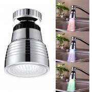 Sdf-b10 1 ABS LED Sensor De Temperatura De Agua De Grifo De Ducha LED RGB Luz De Brillo, Tamaño: 58 X 38 Mm, Interfaz: 22 Mm (plata)