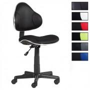 IDIMEX Chaise de bureau pour enfant ALONDRA, noir/noir