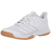 Adidas Women's Ligra 6 Volleyball Shoe, White/Gum, 15 M US