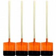 Pachet 4 bucati Lopata ruseasca portocalie Cu coada lunga