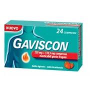 Gaviscon 24 Compresse Masticabili Fragola 250 Mg + 133,5 Mg