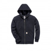 Carhartt 103312 Rockland Quilt-Lined Full-Zip Hooded Sweatshirt - Relaxed Fit - Black - XL