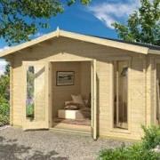 LASITA MAJA Abri de jardin en bois brut - elgin - 16,53 m² - 44 mm