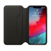 Калъф за Apple iPhone XS Max, Apple Leather Folio, flip cover, кожен, черен